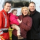 Maisie with Mum, Dad and Essex & Herts Air Ambulance Critical Care Team member