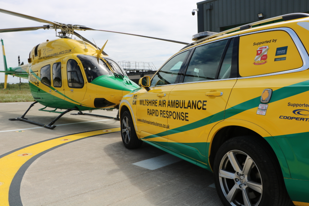 Wiltshire Air Ambulance Helicopter and RRV